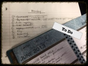 Meshuga Monday To do list
